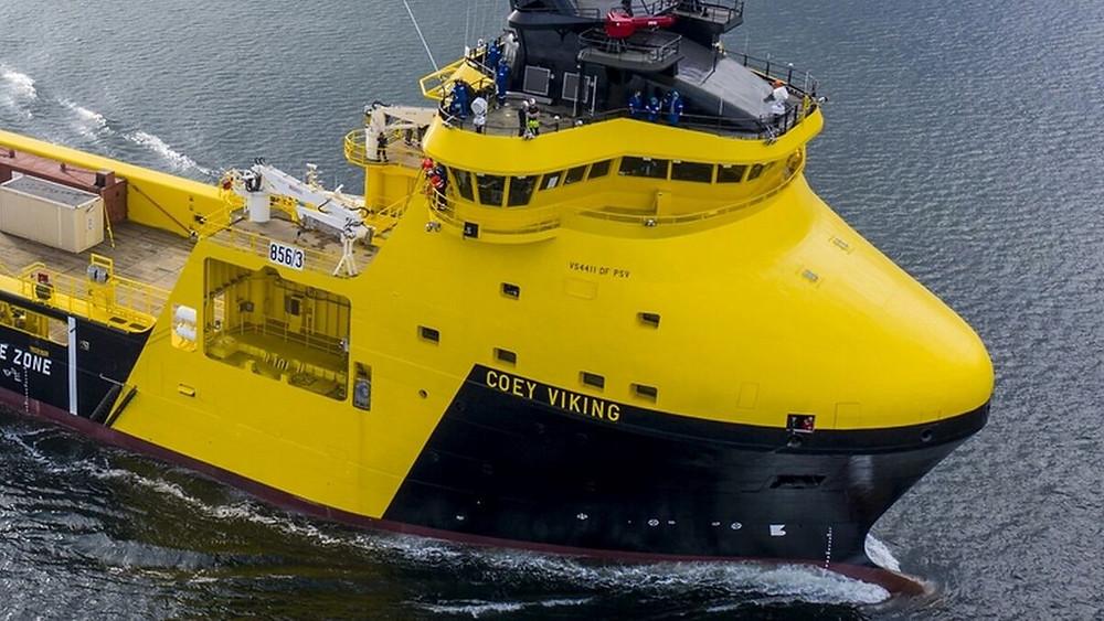 Coey Viking PSV on the water