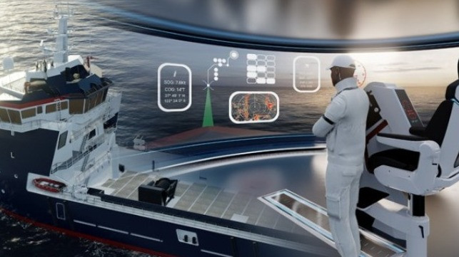 Damen augmented reality smart bridge