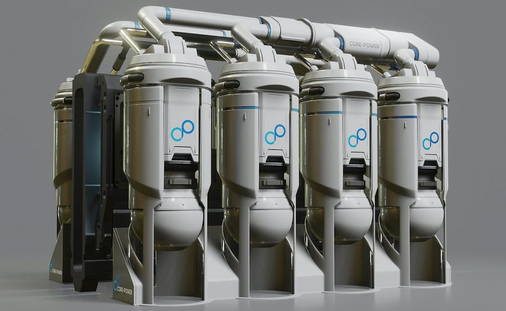 Render of a small scale nuclear reactor