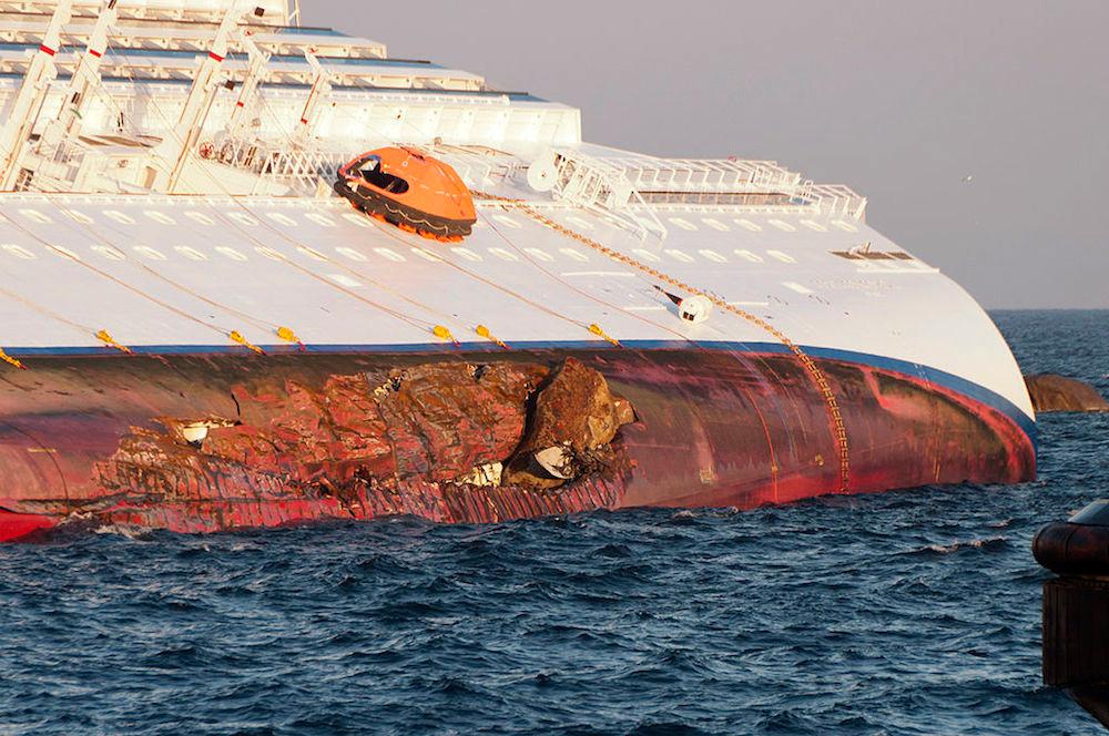 Costa Concordia after collision