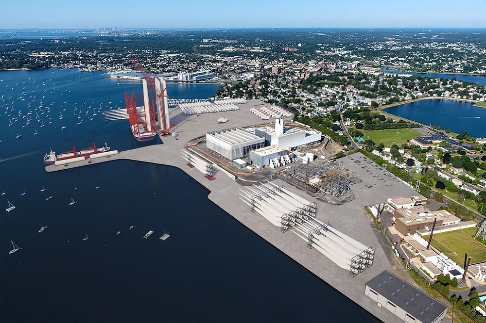 Future Salem, MA offshore wind port rendering