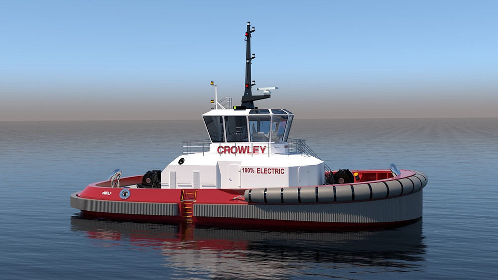 Crowley all-electric tug render