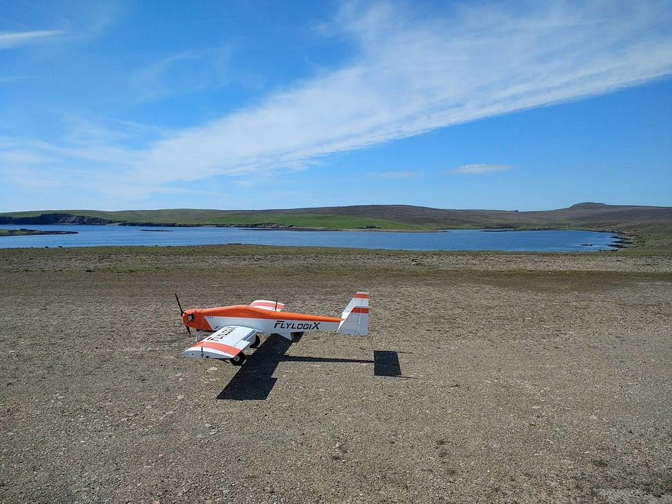 RPAS Flylogix drone on the runway