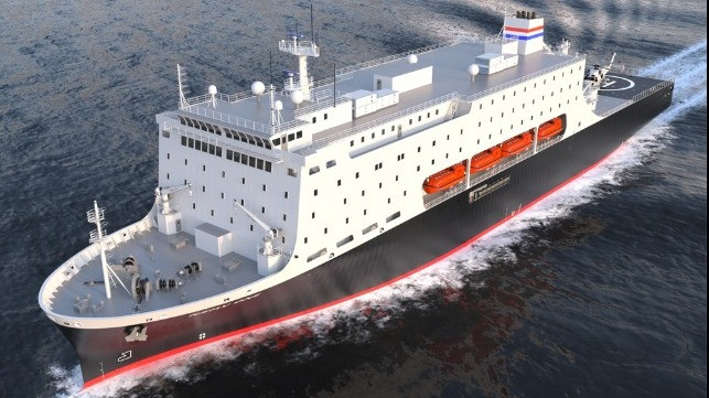 Render of new training vessel