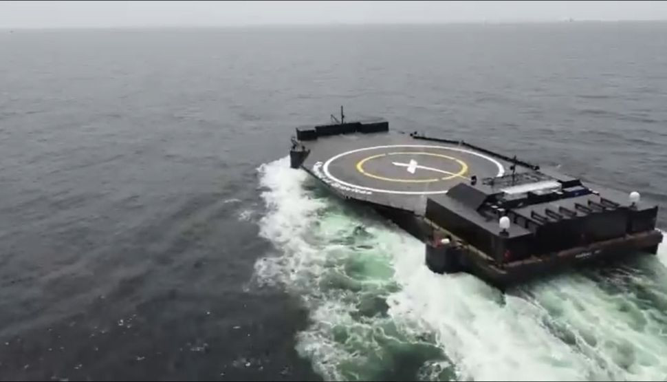 SpaceX A Shortfall of Gravitas travelling on the ocean