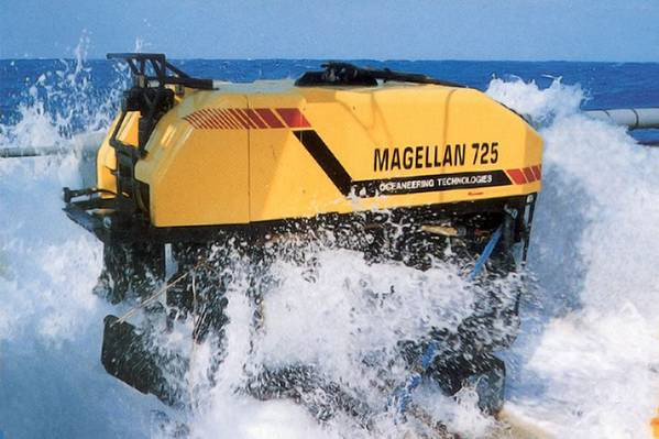 Magellan 725 OSV on the ocean