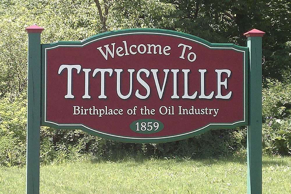 Welcome to Titusville sign