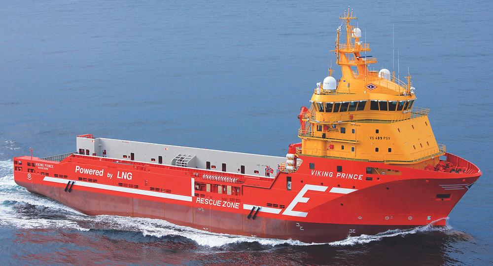 Wartsila offshore support vessel on the ocean