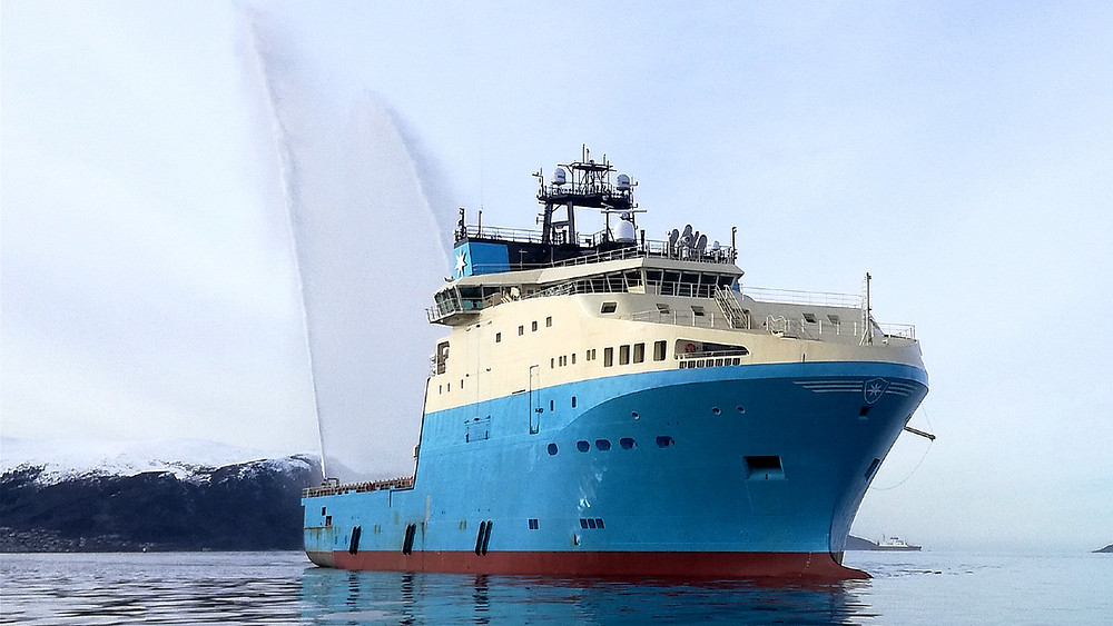 Maersk Minder on the water