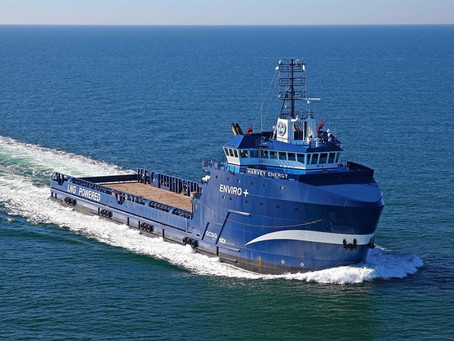 Harvey Gulf tri-fuels, LNG bunkering in Galveston TX, Vestland wind install, P&O super ferries