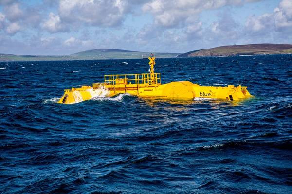 Mocean wave energy unit at sea