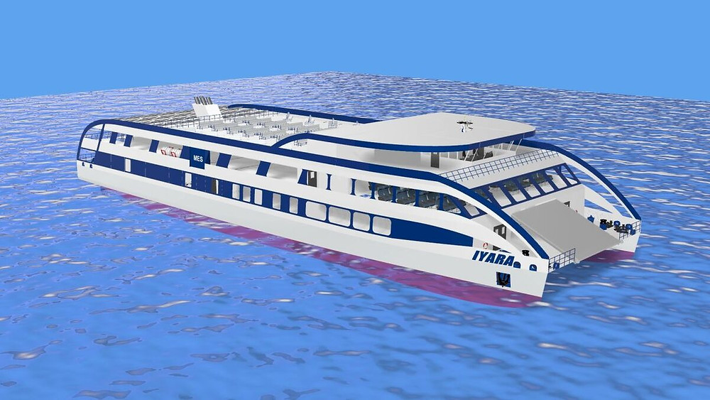 First place Amazon river Ferry rendering