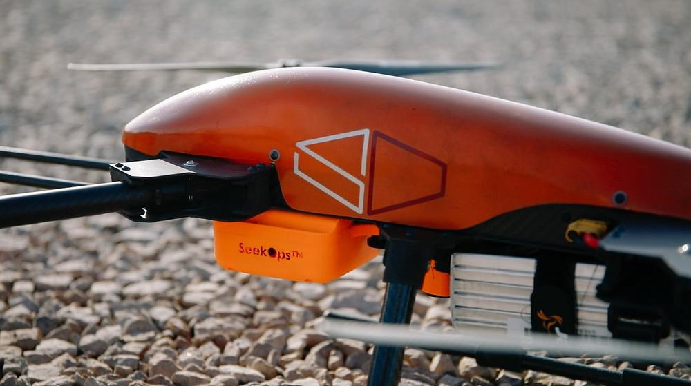 SeekOps aerial drone with methane sensor
