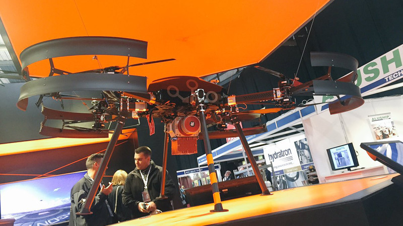 Aerial drone on the table at the SPE Offshore Europe conference