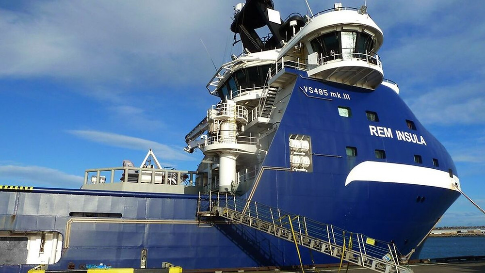 Blue Platform Supply Vessel