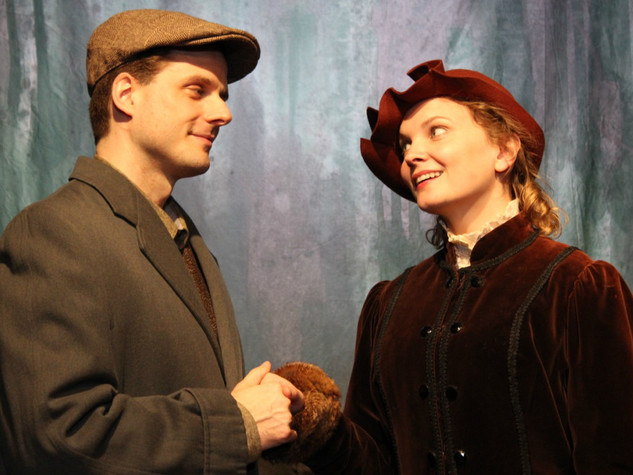Michael Zlabinger and Rachel Mewbron in LIKE MONEY IN THE BANK at the Theatre Row Studio Theatre, April 2016