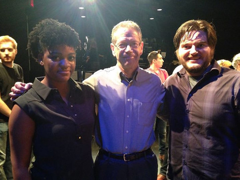WVU Actors Adaeze Nwoko and Ben Forer with Jerry Polner at AM I NORMAL, New York Madness, May 2015