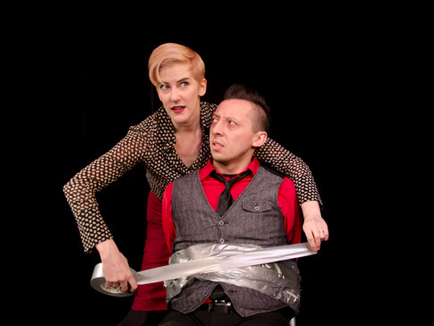 Moira Stone and Mateo Moreno in FIX NUMBER SIX, Planet Connections Theatre Festivity, Gene Frankel Theatre, May 2013