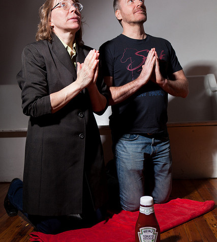 Rosemary Howard and Rob Skolits in QUIT THE ROAD, JACK at TheaterLab, March 2015