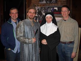 Michael Criscuolo (director), Gavin Starr Kendall, Heather Lee Rogers, and Jerry Polner (playwright), FLORENCE, FAREWELL Brooklyn Playwrights Collective at Manhattan Theater Source