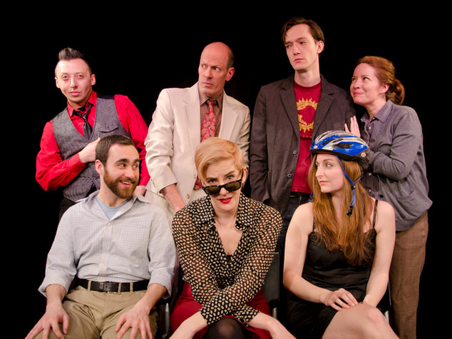 Mateo Moreno, Arthur Aulisi, Colin Chapin, Alyssa Simon, Adam Lebowitz-Lockard, Moira Stone, and Victoria Miller in FIX NUMBER SIX, Planet Connections Theatre Festivity, Gene Frankel Theater, May 2013