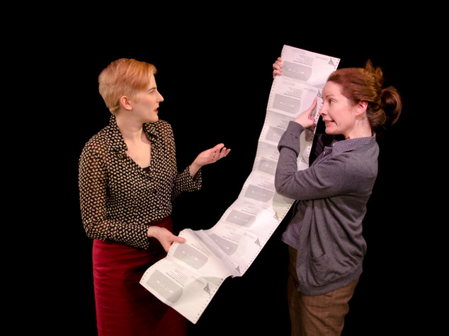 Moira Stone and Alyssa Simon in FIX NUMBER SIX, Planet Connections Theatre Festivity, Gene Frankel Theater, May 2013