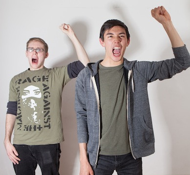 Jay Reum and Connor Johnston in LIKE MONEY IN THE BANK at TheaterLab, March 15
