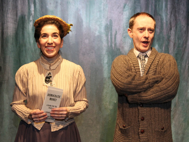 Sarah Sirota and Andrew Sellon in LIKE MONEY IN THE BANK at the Theatre Row Studio Theatre, April 2016