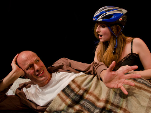 Arthur Aulisi and Victoria Miller in FIX NUMBER SIX, Planet Connections Theatre Festivity, Gene Frankel Theater, May 2013