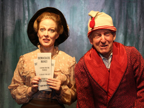 Annalisa Loeffler and Richard Vernon in LIKE MONEY IN THE BANK at the Theatre Row Studio Theatre, April 2016