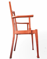~Vermont Orange~ Carver chair painted in