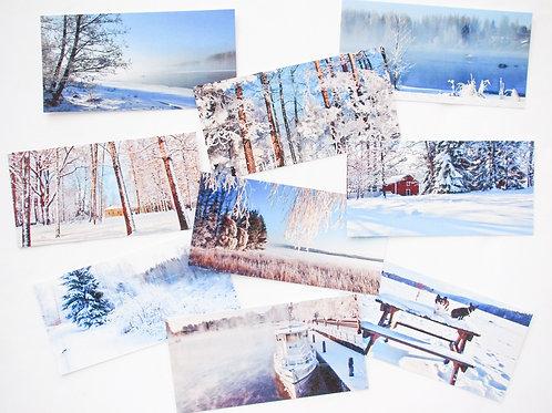 TALVI panoraama-postikortit (99x200)mm - 9 kuvan sarja