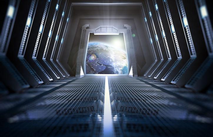 Tierra de la nave espacial