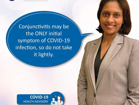 IS IT JUST A PINK EYE OR IS IT A SYMPTOM OF COVID-19 INFECTION?