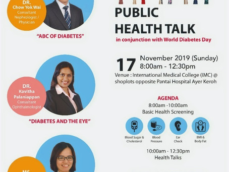 DIABETES - Public Health Talk in Melaka