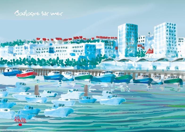 8 Carte postale cambier boulogne sur mer
