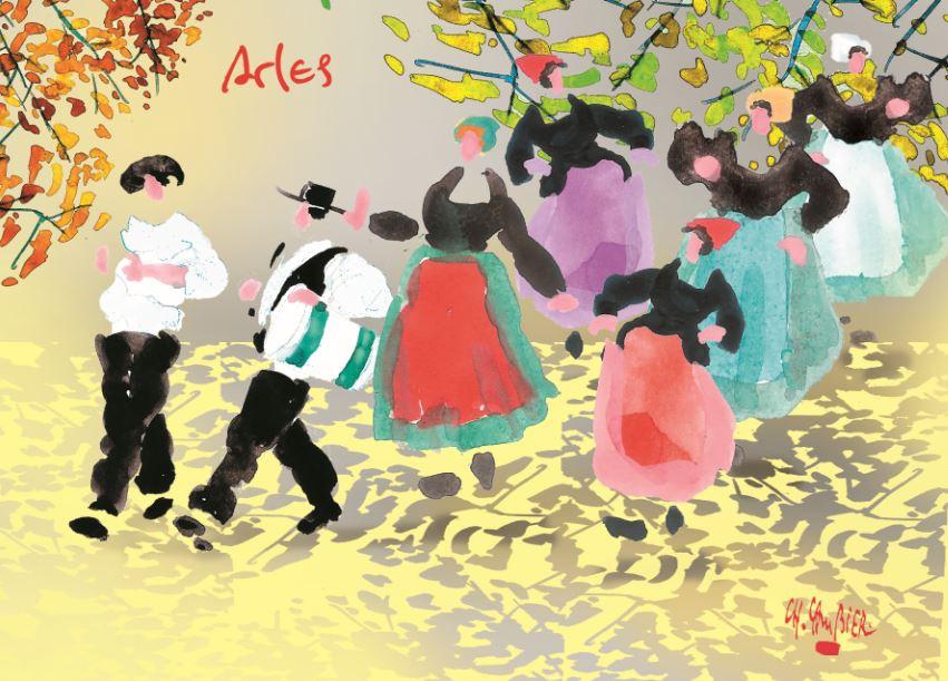 6 carte postale Arles.JPG