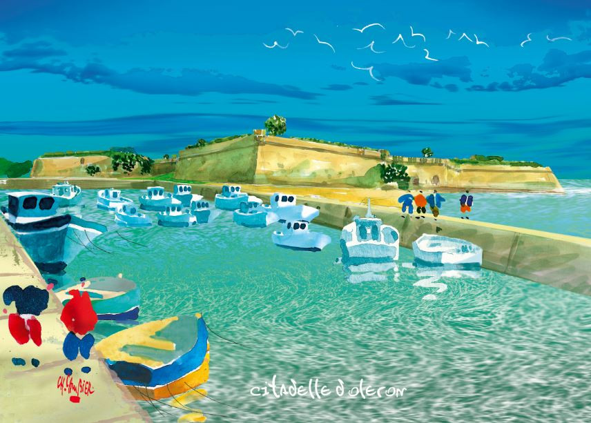 15 carte postale citadelle d oleron.JPG