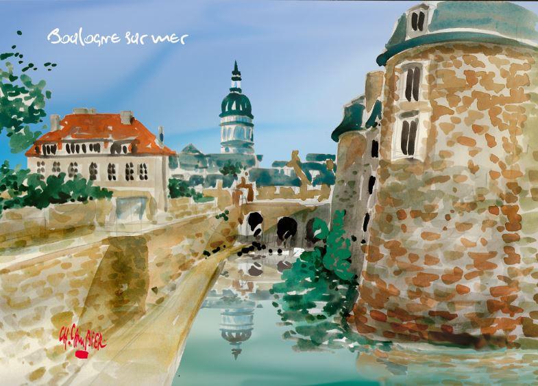 7 Carte postale cambier boulogne sur mer