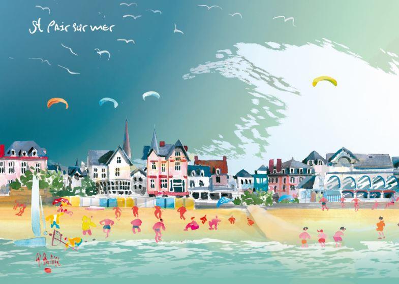 27 Carte postale cambier st pair sur mer
