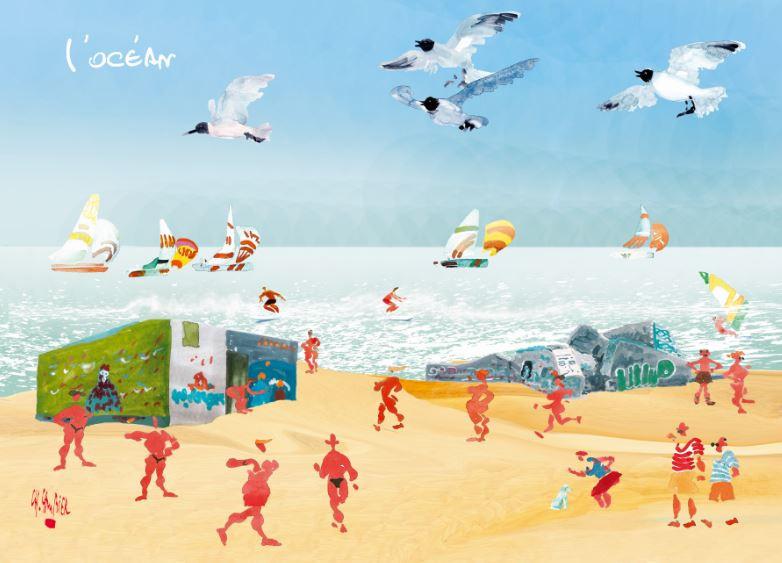 17 carte postale cambier basque landes a