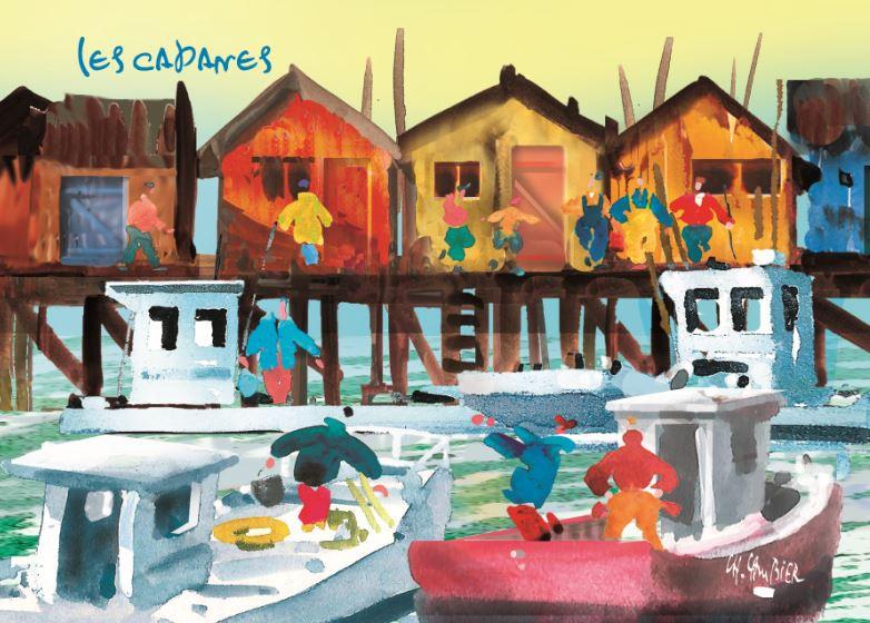 8 carte postale cambier basque landes ar