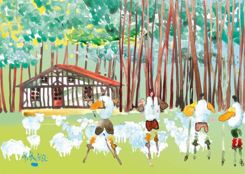 11 carte postale cambier basque landes a