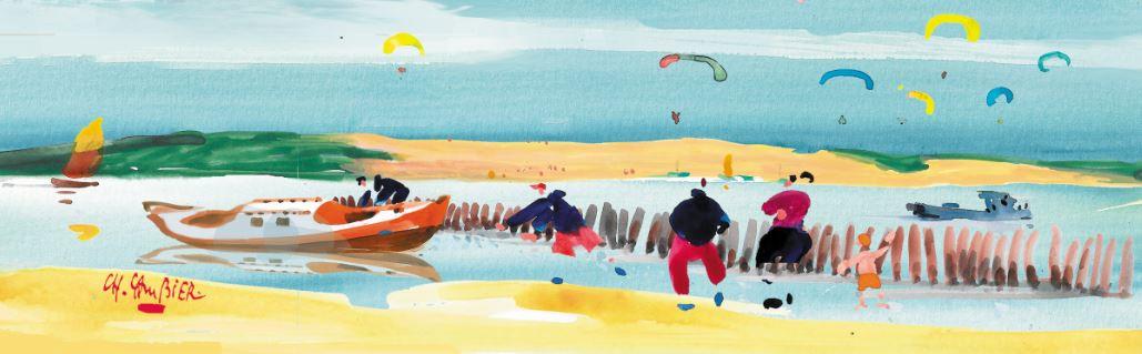 4 carte postale cambier basque landes ar