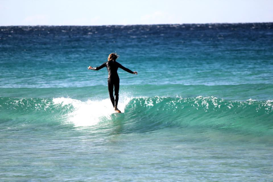 Sydney longboarding, noseriding