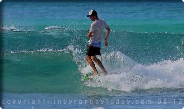 Scott @ the pass byron bay noserider