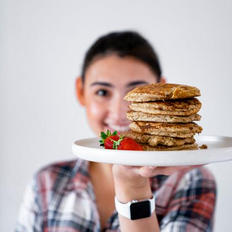 Easy Banana Oat Pancakes
