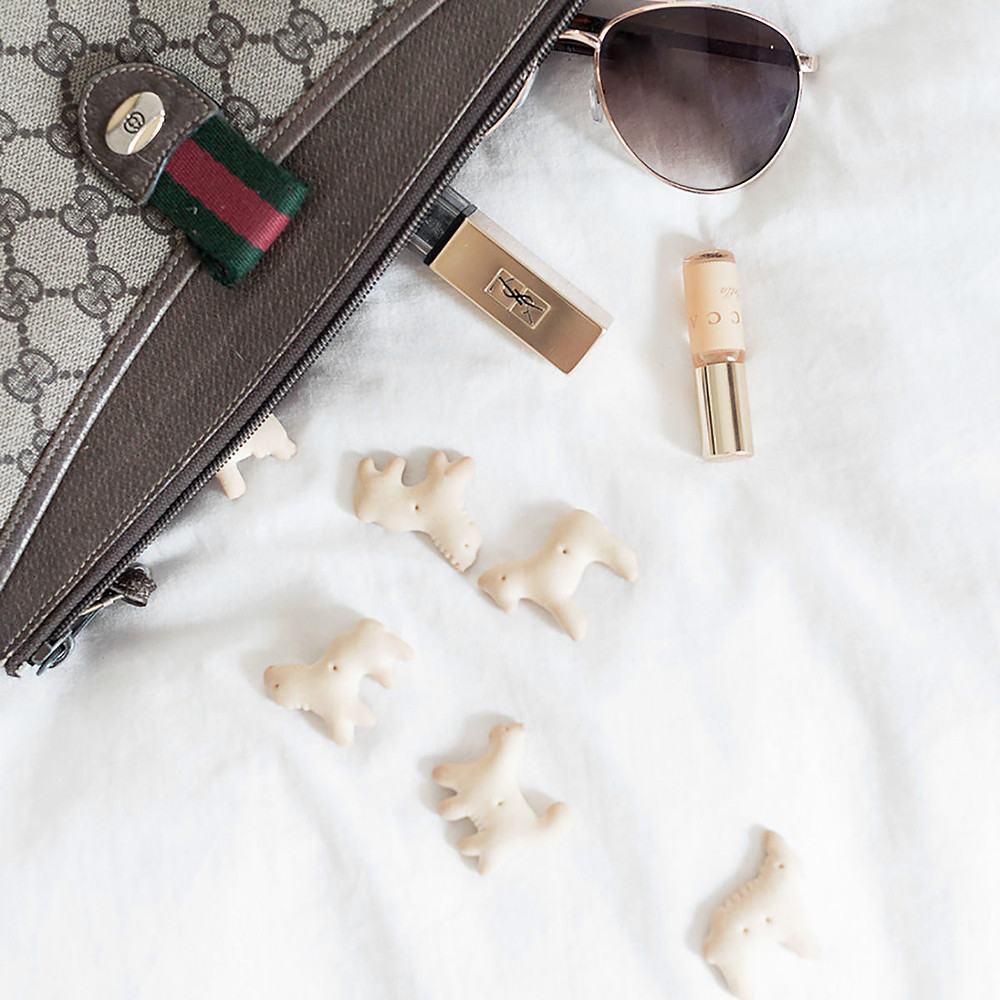 Purse with clutter