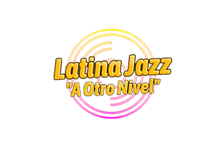 Logo Nuevo 4 Latina Jazz PNG con Slogan.