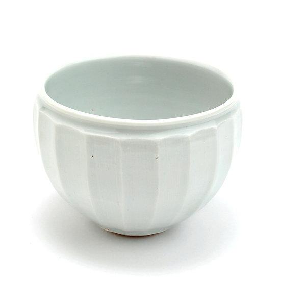 加藤幸治 白磁面取茶碗